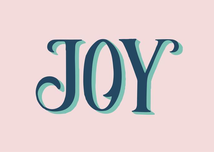 Ilustração de tipografia de alegria