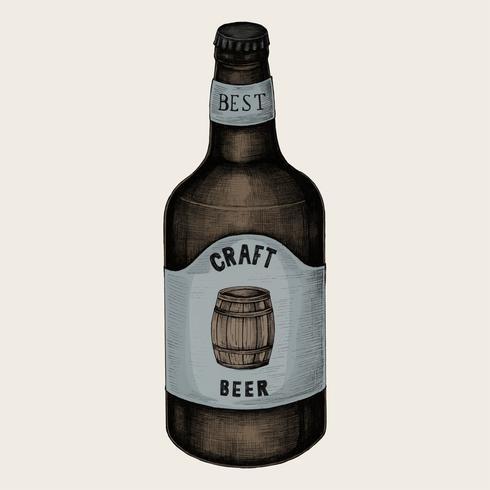 Illustration of a craft beer