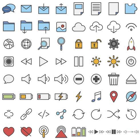 Ilustração conjunto de ícones de tecnologia