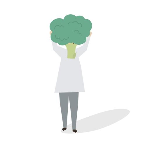 illustration of woman with a broccoli download free vectors clipart graphics vector art clipart graphics vector art