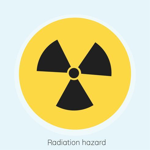 Illustration d'un panneau d'avertissement de radioactivité