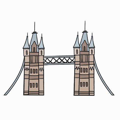 Tower Bridge, o símbolo icônico da ilustração de Londres