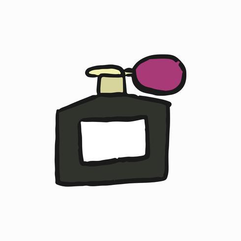 Illustration de bouteille de parfum atomiseur français