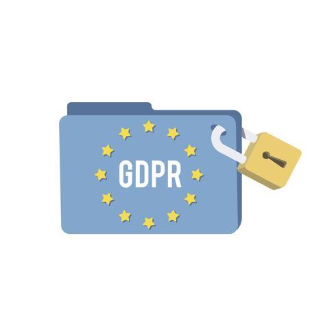 Allmänna dataskyddsförordningen mapp illustration