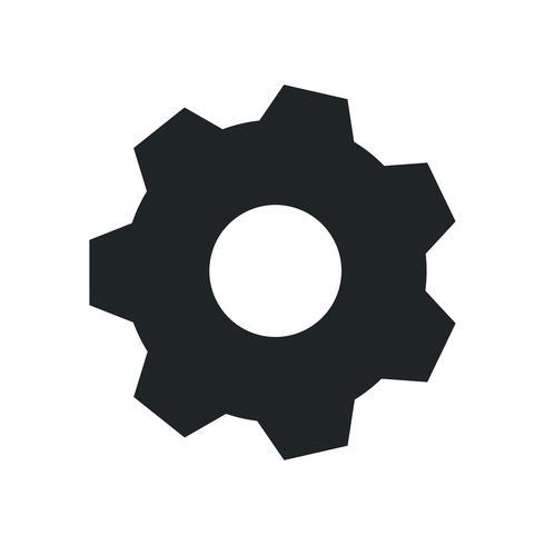 Black gear on white background