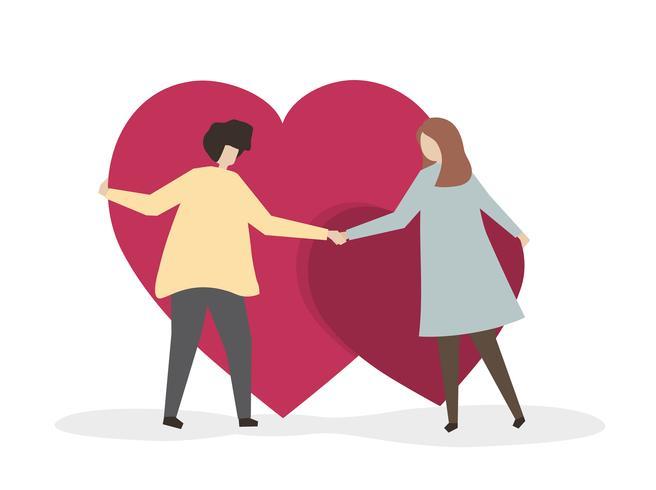 Amanti aggrappati al loro amore