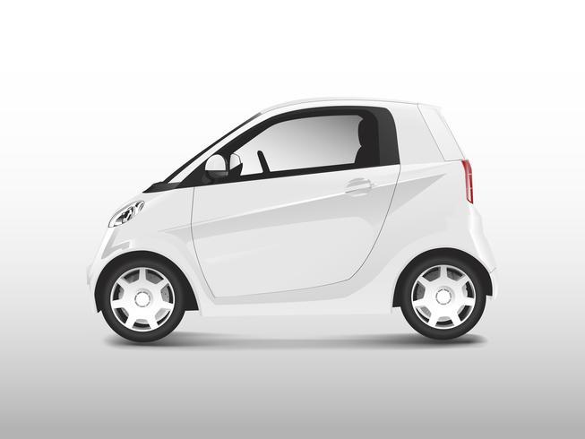 Vecteur de voiture hybride compacte blanche