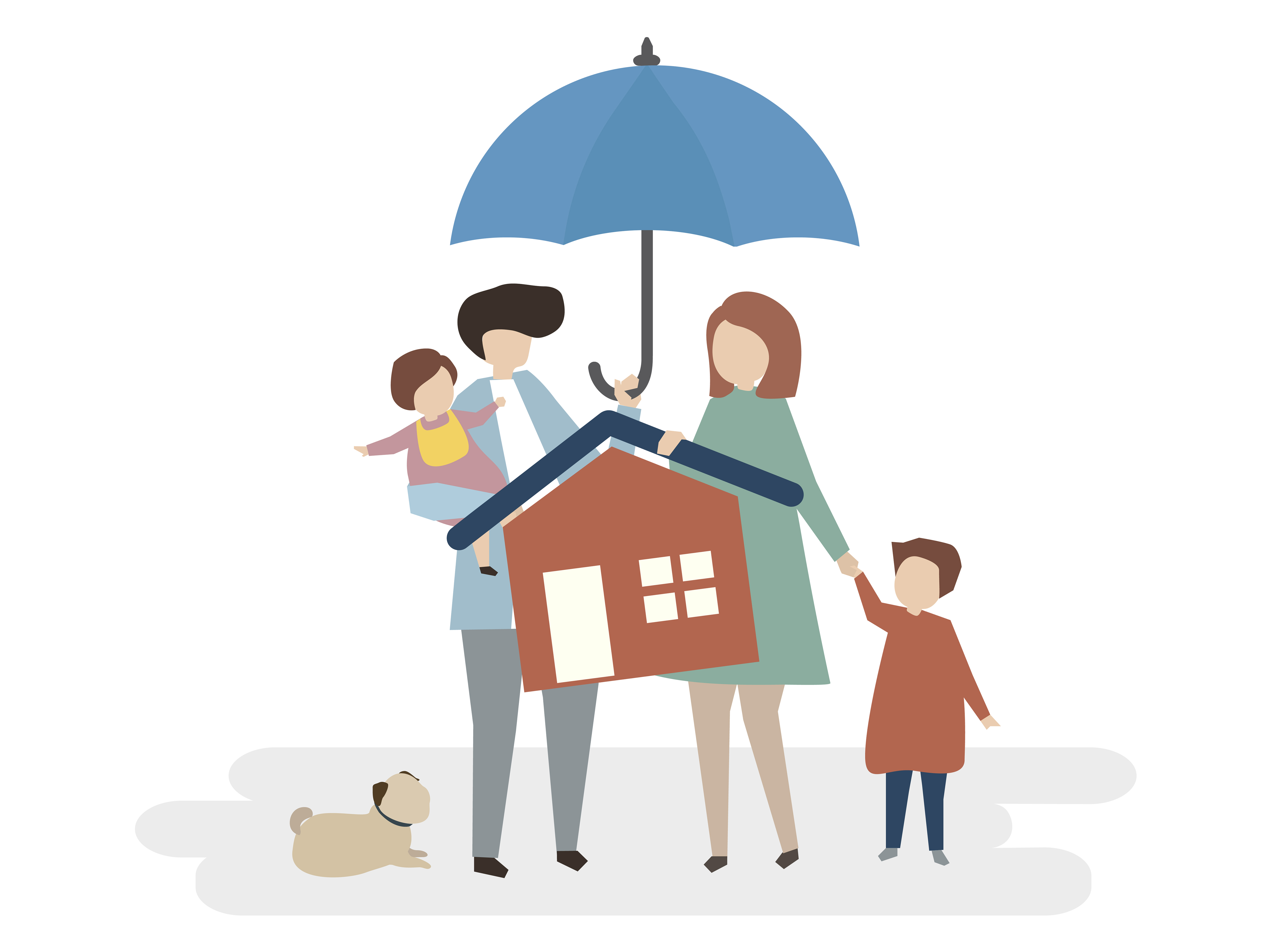 Illustration of home insurance protection - Download Free ...