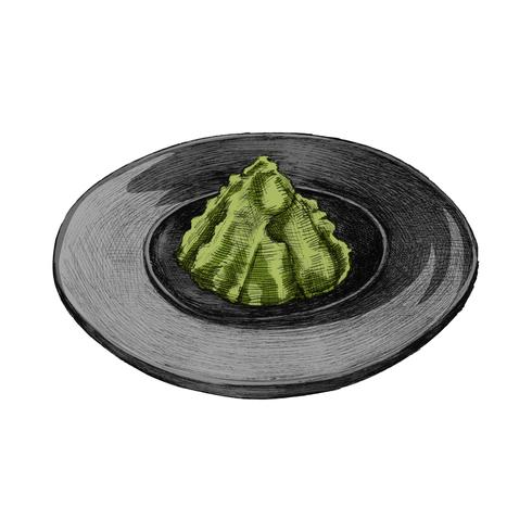 Illustratie van Japans kruid