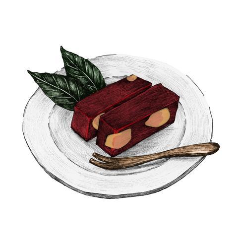 Ilustración de plato japonés