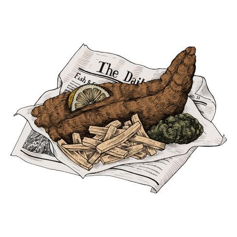 Illustratie van fish and chips