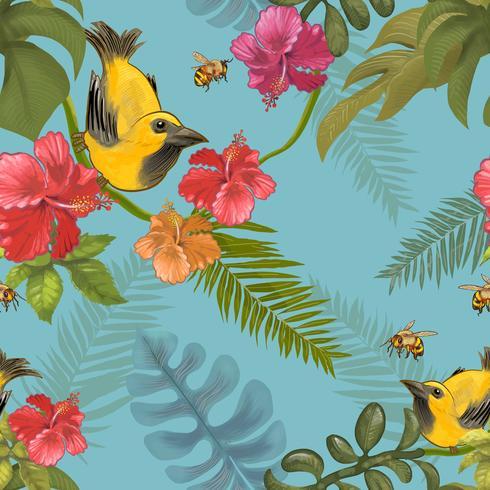 Illustrazione degli uccelli in natura