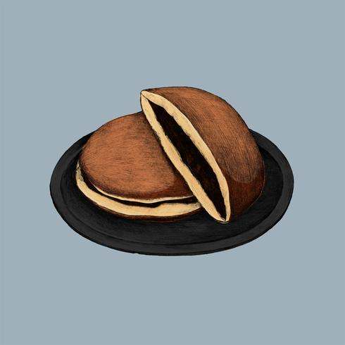 Illustration av japanska Dorayaki