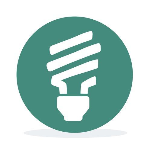 Glühbirne mit grüner Energie und Stromeinsparung
