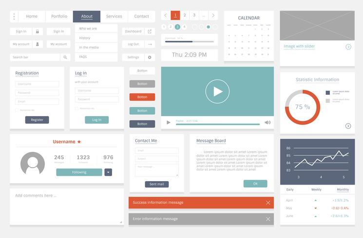 Ilustración de diseño de plantilla de diseño de sitio web vector