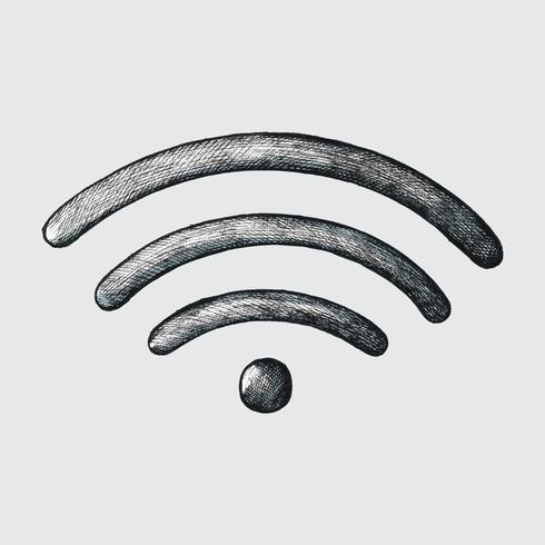 Von Hand gezeichnete drahtlose Internet-Illustration
