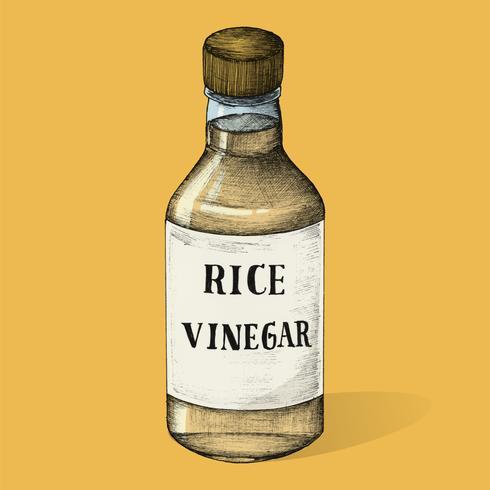 Ilustração de vinagre de arroz