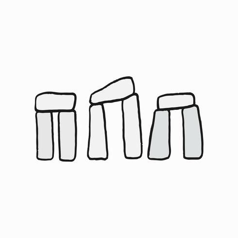 Stonehenge, brittisk kultur ikon illustration