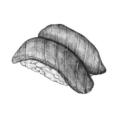 Handgezeichnete Sushi