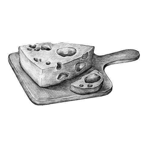 Hand-drawn cheese