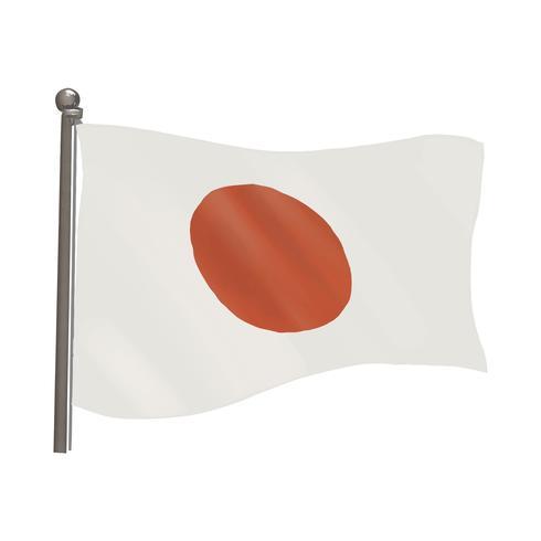Bandera nacional de Japón ilustración