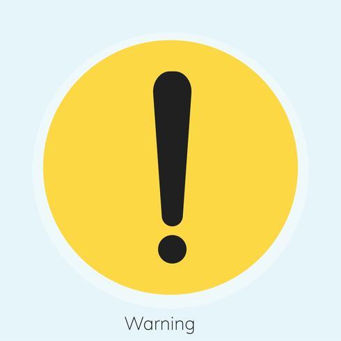 Illustration av varnings utropstecken tecken