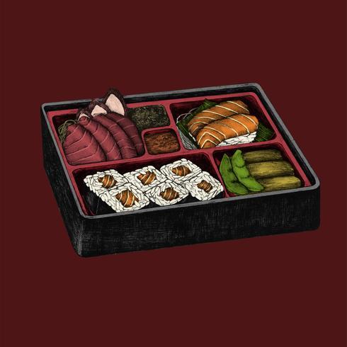 Ilustración de la cocina japonesa