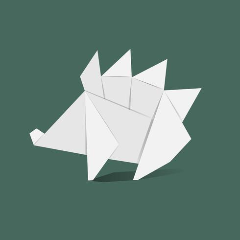 Vector de origami animal