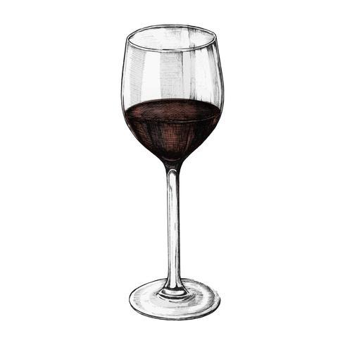 Illustration d'un verre de vin rouge