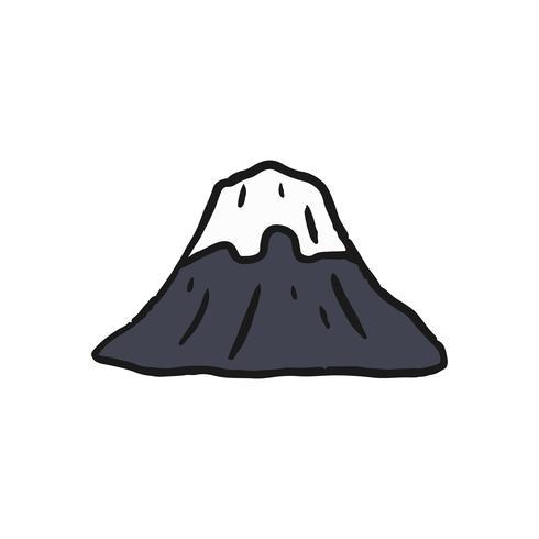 Den berömda Fuji berget illustrationen