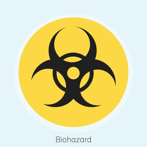Illustration d'un panneau de signalisation de danger biologique