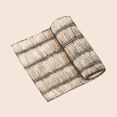 Illustration d'une plaque de bambou