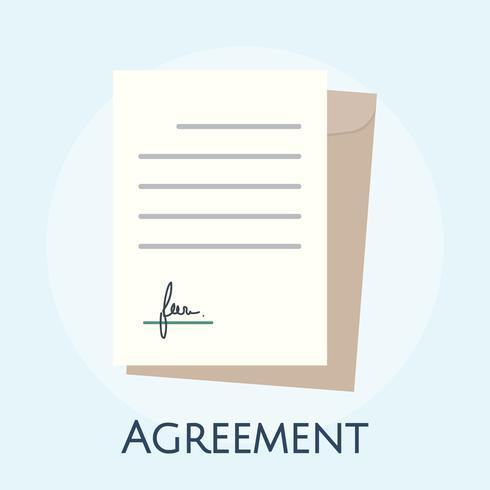 Ilustración del concepto de acuerdo de negocios