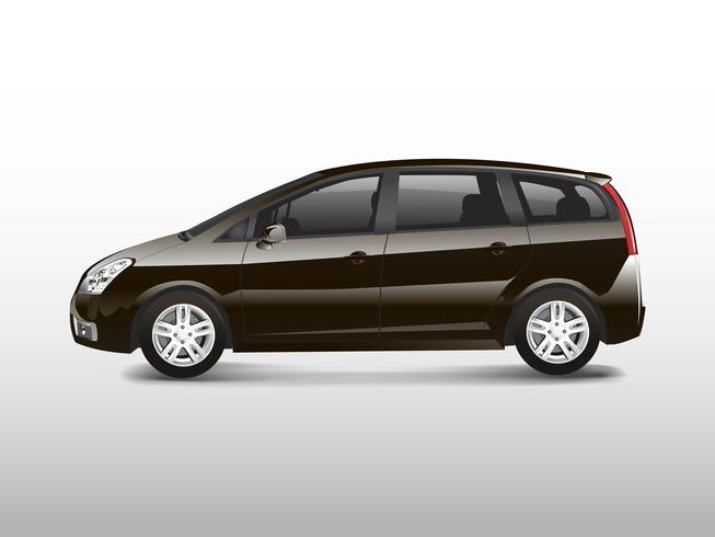 Bruine MPV minivan automobiele vector