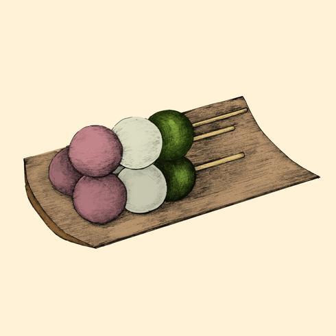 Illustration av japanska köket