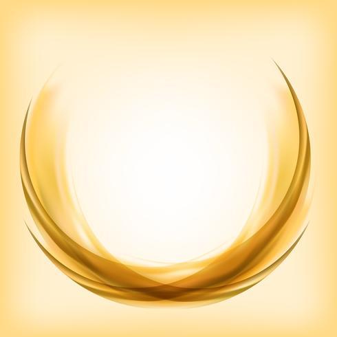 Abstrakt logotyp design i gult