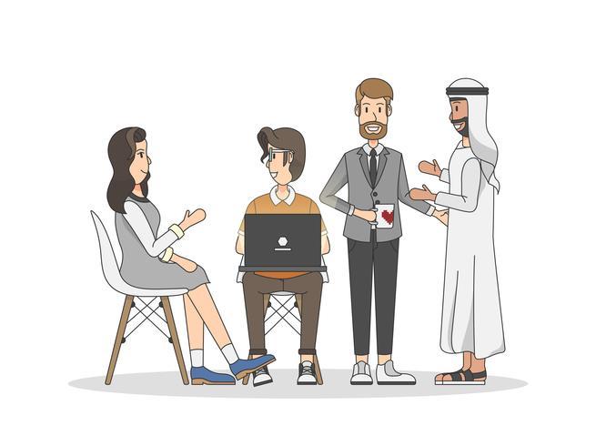 Illustration de personnes ayant une réunion