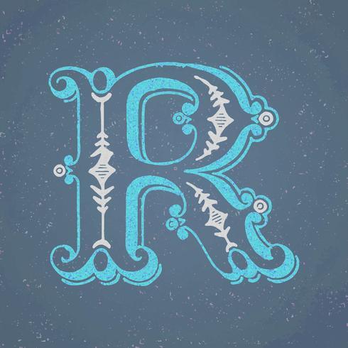 Style de typographie vintage majuscule R