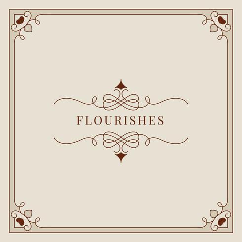 Flourishesweinlese-Verzierungsrahmenillustration