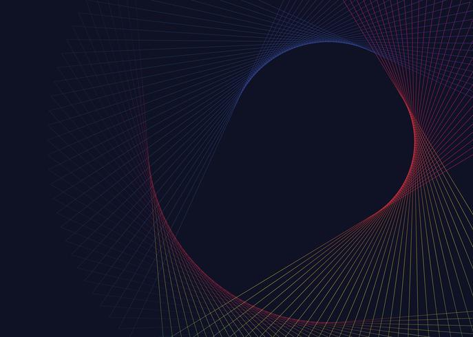 Abstrakter kreisförmiger geometrischer Elementvektor
