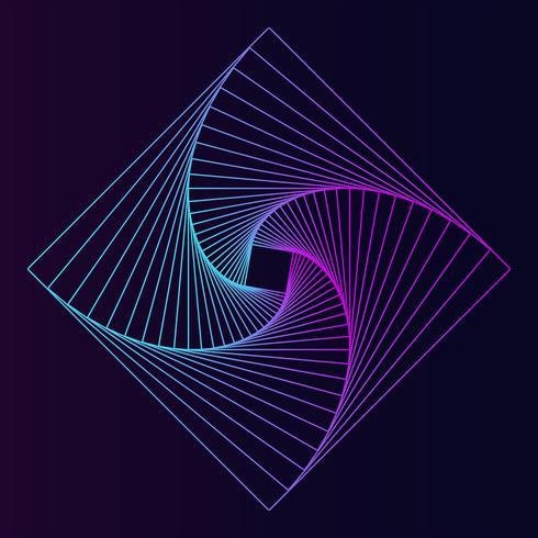 Abstracte vierkante geometrische elementenvector