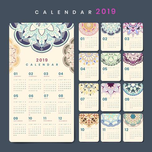 Mandala kalendermockup