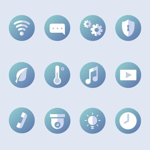 Raccolta di icone vettoriali casa intelligente