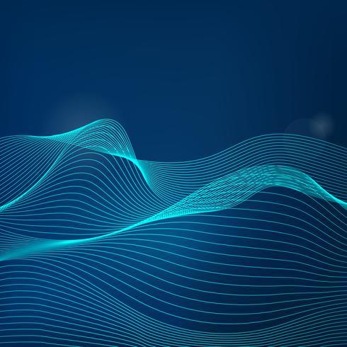 Vettore dinamico del modello di onda di visualizzazione di dati
