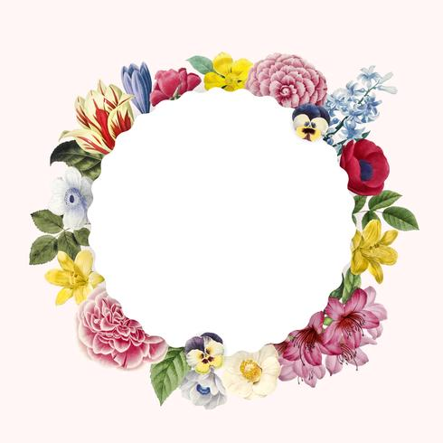 Blank blommig kopia utrymme