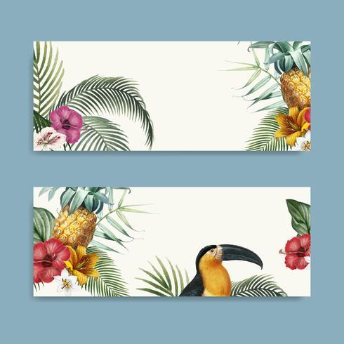 Macaw lövverk mockup samling