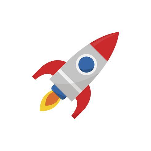 Illustratie van een raketpictogram