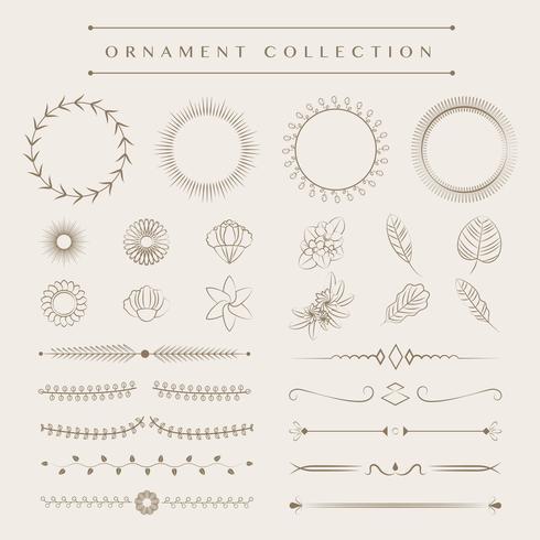 Ornament samling vektor design koncept