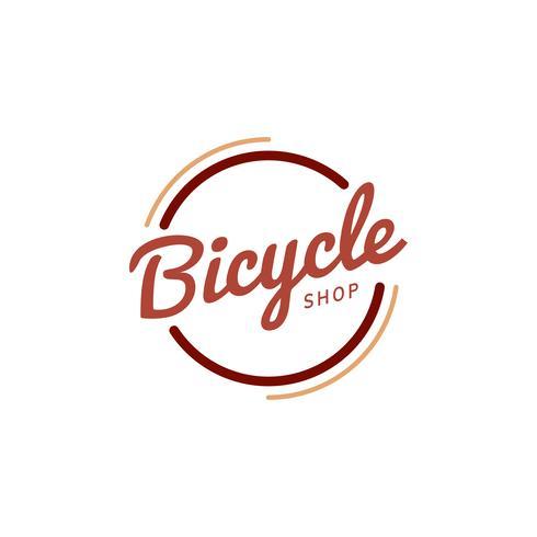 Fahrradgeschäft Logo Design Vektor