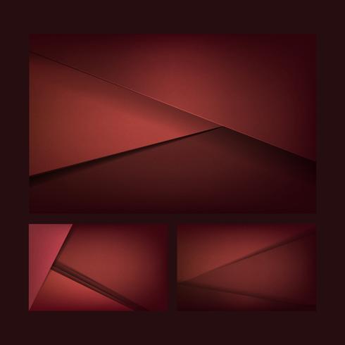 Set abstrakte Hintergrunddesigne in dunkelrotem